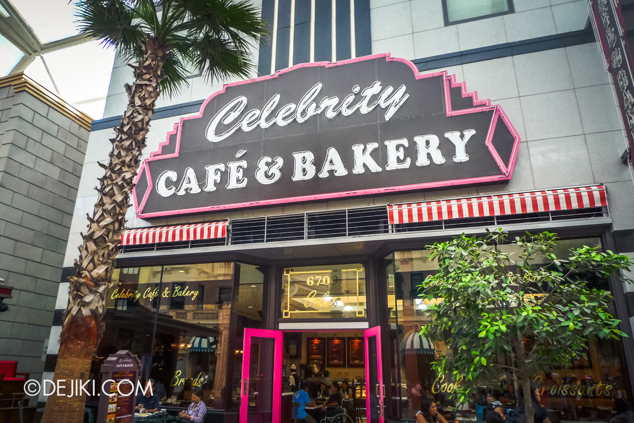 Universal Studios Singapore 10th Anniversary Flashback Hollywood original Celebrity Cafe