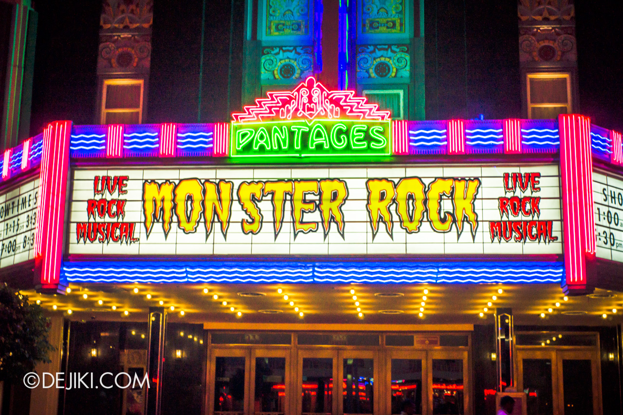 Universal Studios Singapore 10th Anniversary Flashback Monster Rock marquee