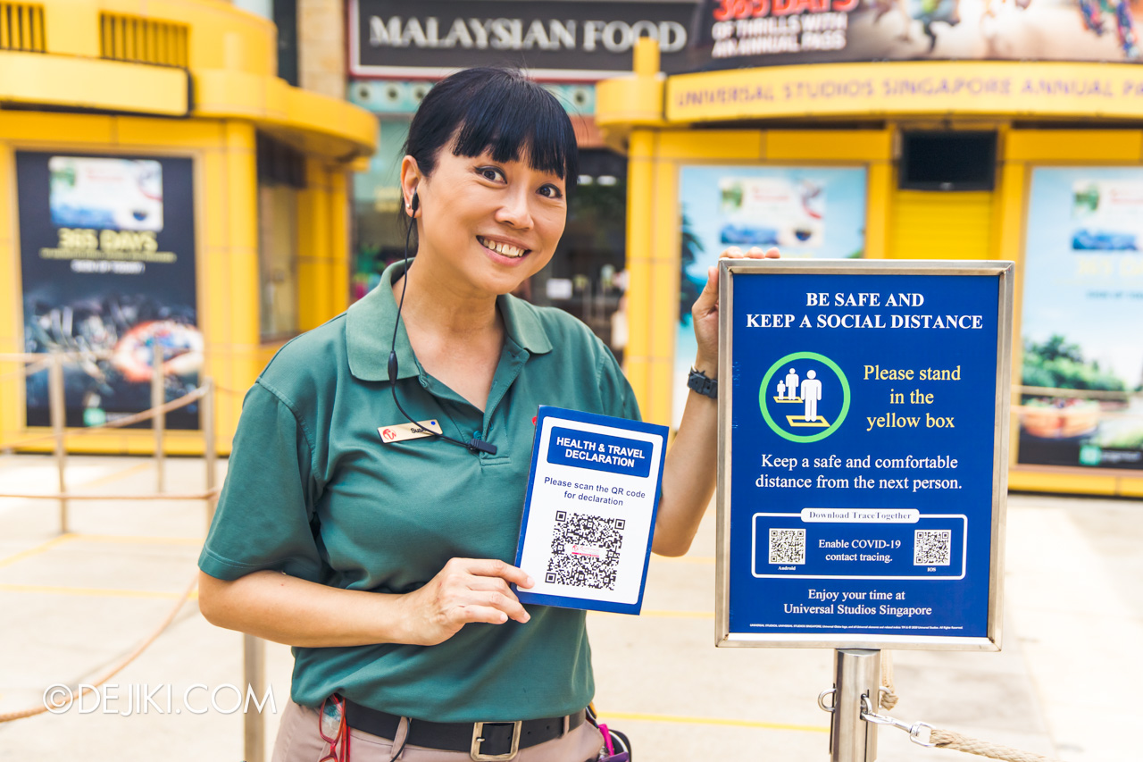 Universal Studios Singapore Covid 19 Park Update Mar Apr 2020 Health and Travel Declaration Ambassador