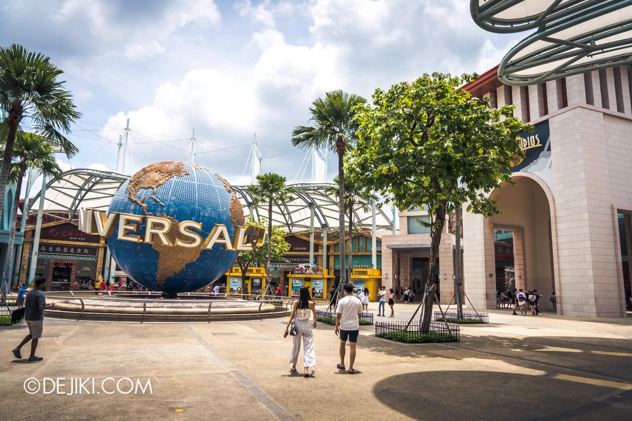 Universal Studios Singapore Covid 19 Park Update Mar Apr 2020 Park Globe Plaza