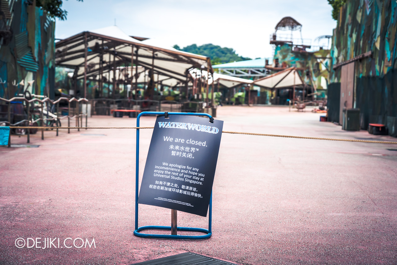 Universal Studios Singapore Covid 19 Park Update Mar Apr 2020 Suspended attractions WaterWorld