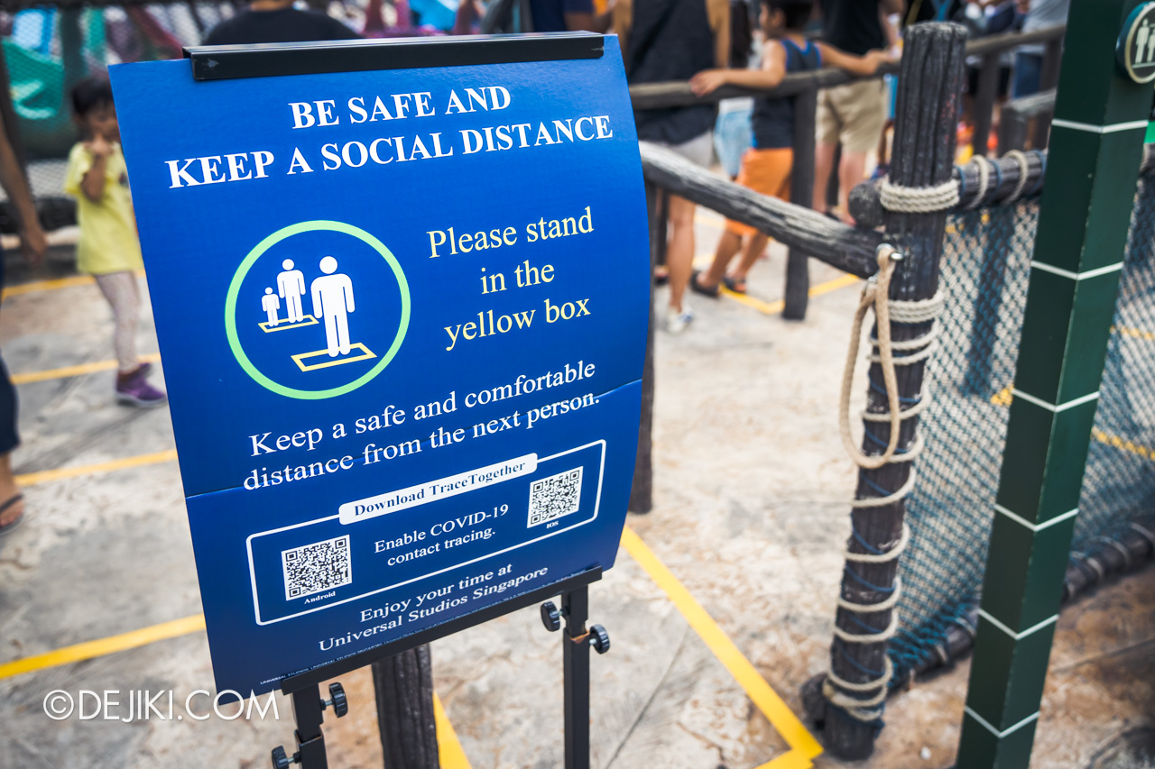 Universal Studios Singapore Reopening Park Update June 2020 Social distancing posters
