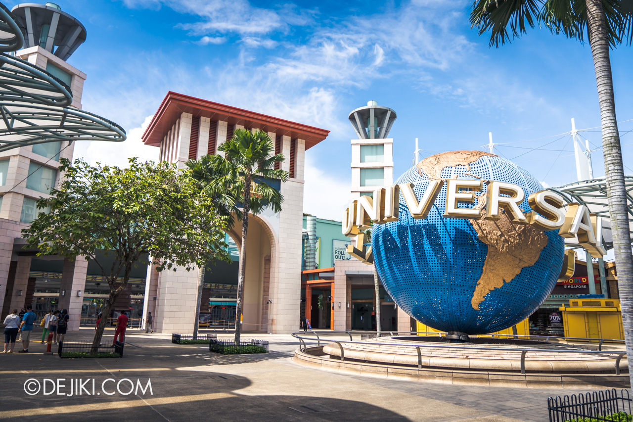 Universal Studios Singapore Park Update July 2020 Reopening Park Entrance Arch with Globe