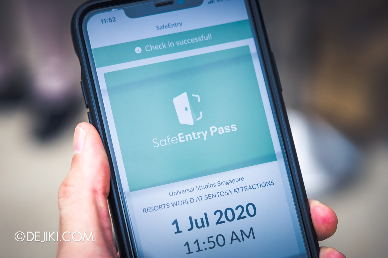 Universal Studios Singapore Park Update July 2020 Reopening Park Entry Procedure SafeEntry check in