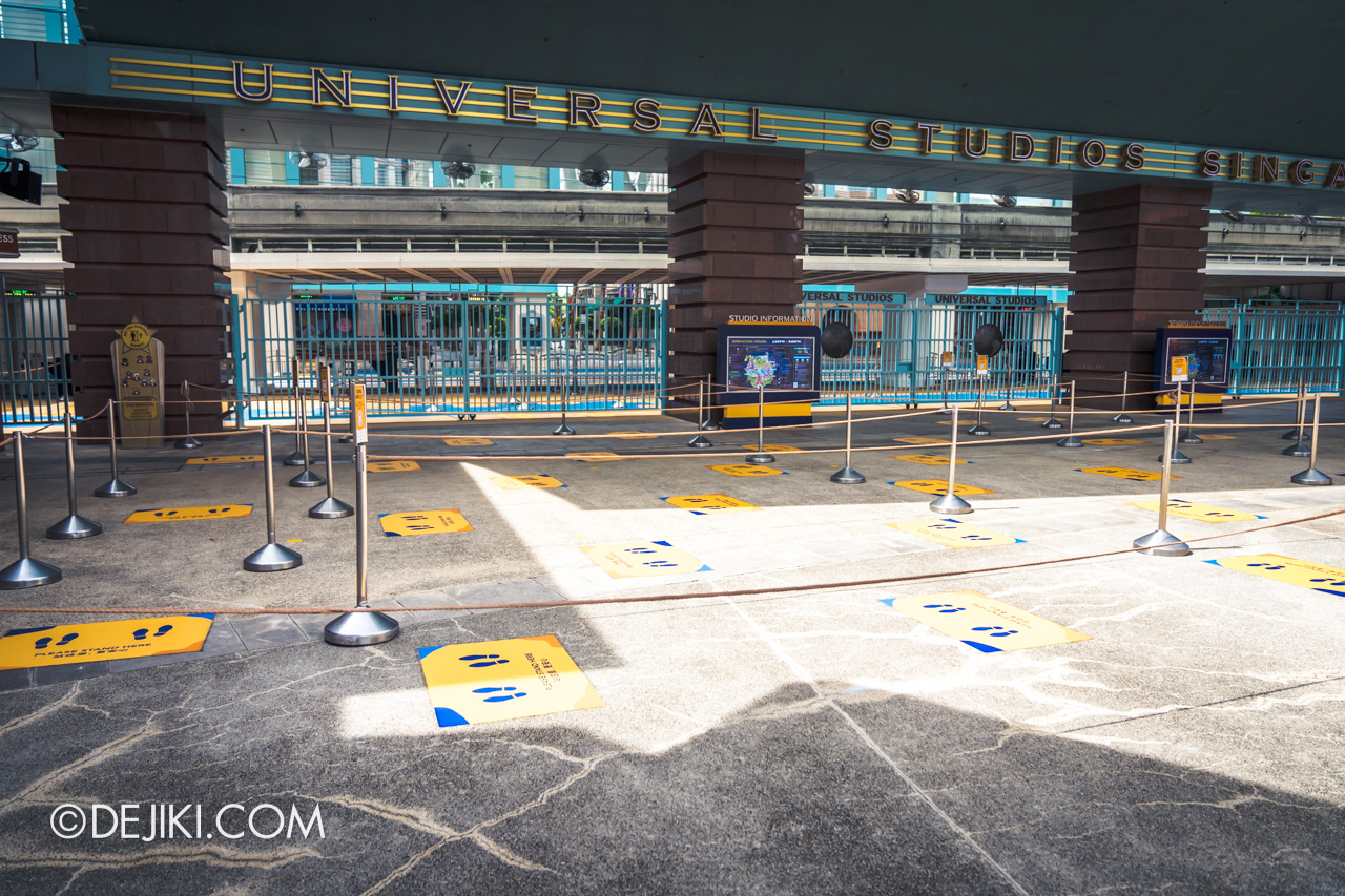 Universal Studios Singapore Park Update July 2020 Reopening Park Entry Procedure queue