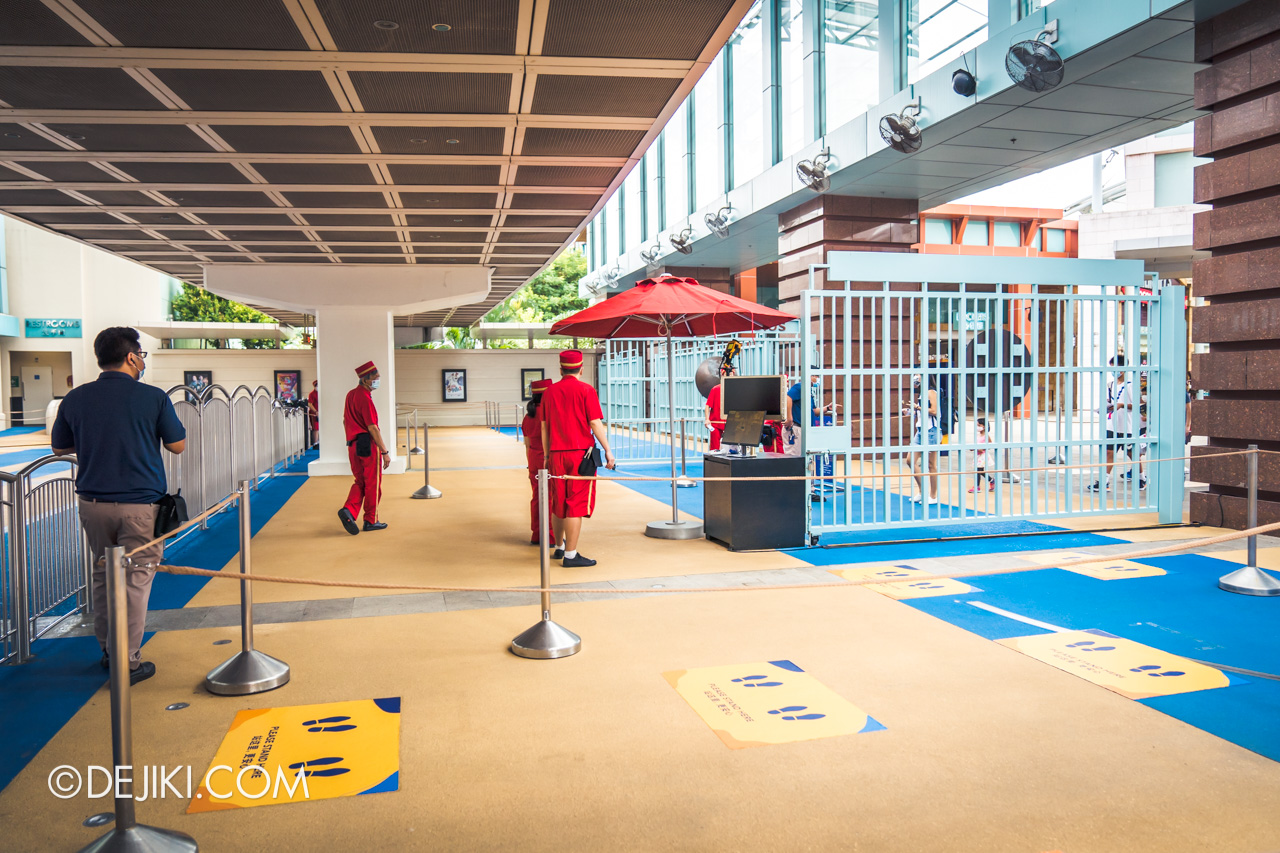 Universal Studios Singapore Park Update July 2020 Reopening Park Entry Procedure temperature scanning