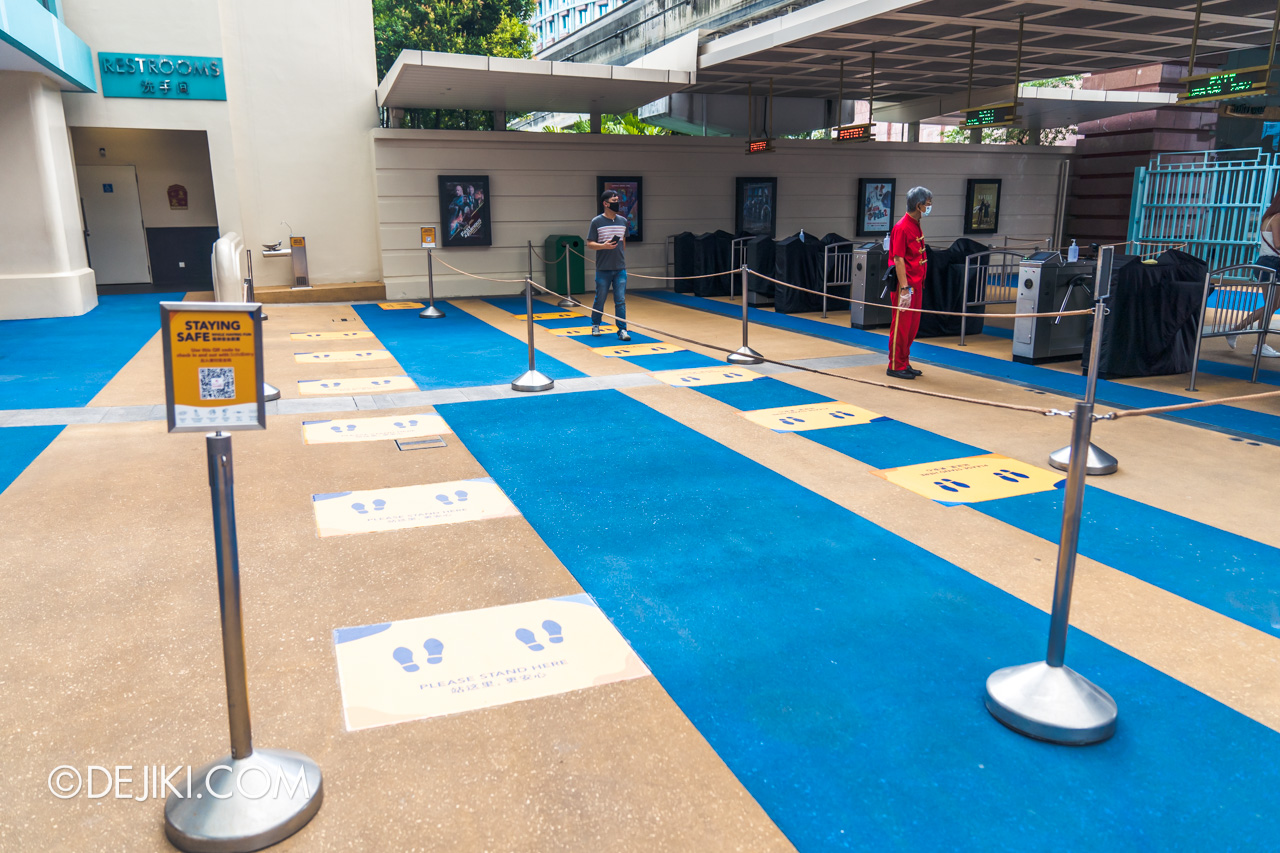 Universal Studios Singapore Park Update July 2020 Reopening Park Exit SafeEntry checkout