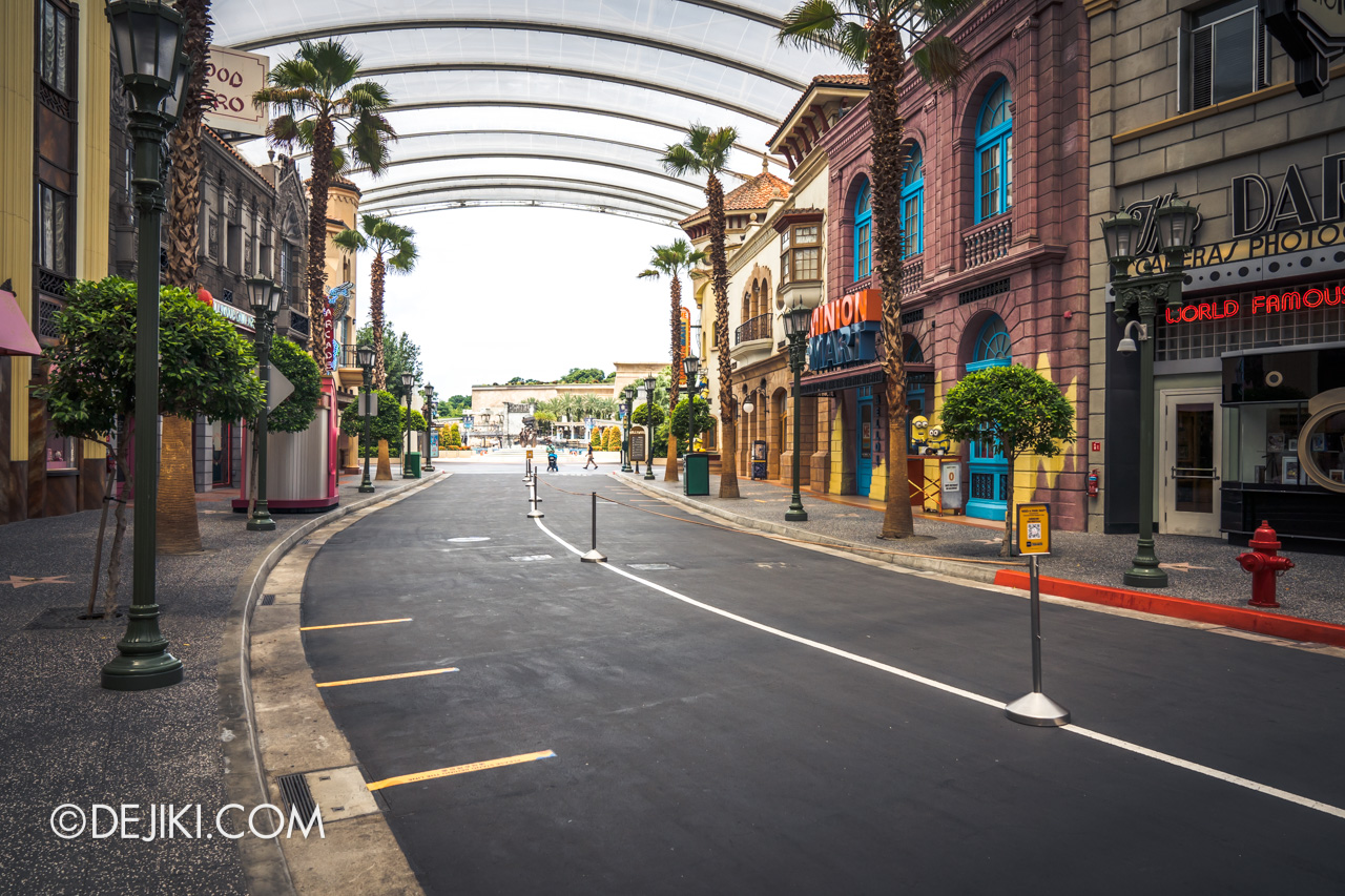 Universal Studios Singapore Park Update July 2020 Reopening Priority Entry Special Hollywood empty 1