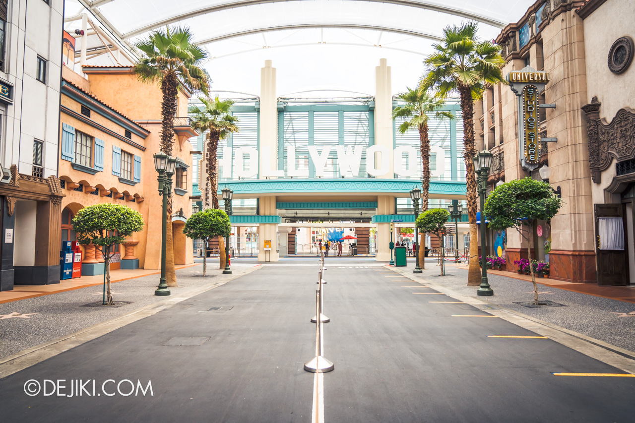 Universal Studios Singapore Park Update July 2020 Reopening Priority Entry Special Hollywood empty 2