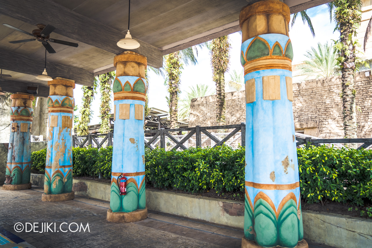 Universal Studios Singapore Park Update July 2020 Reopening Repainted Parts in Ancient Egypt