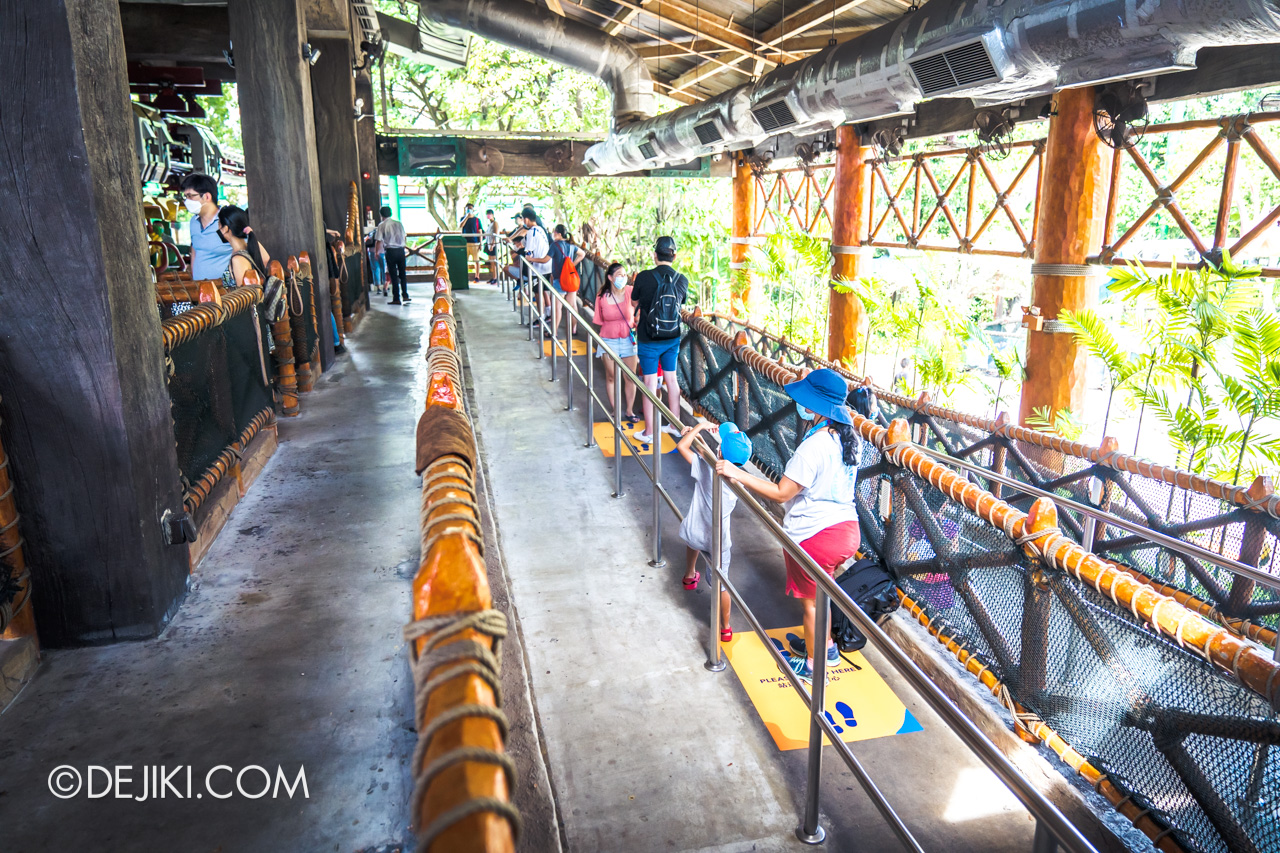 Universal Studios Singapore Reopening Safe Management Measures Canopy Flyer ride queue distancing