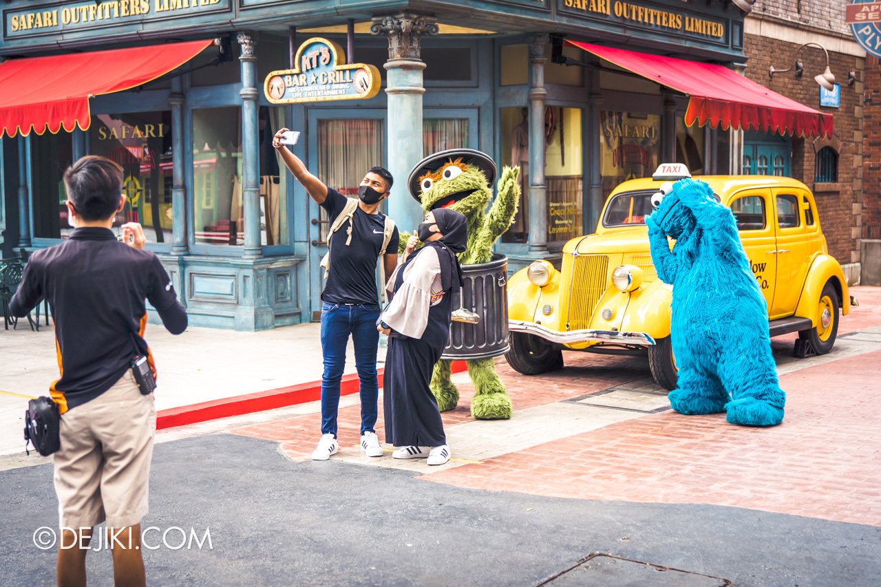 Universal Studios Singapore Reopening Safe Management Measures Meet and Greet DIY Selfie