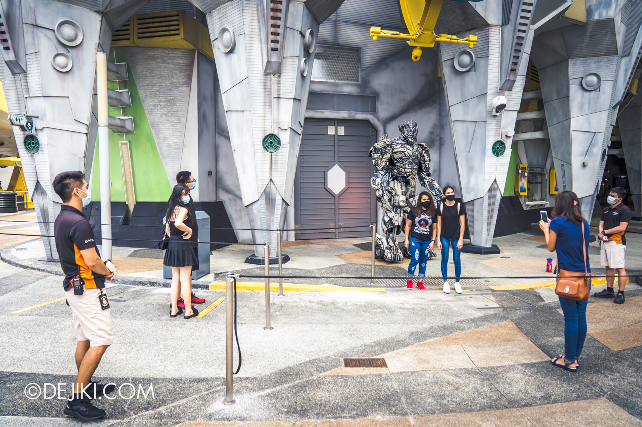 Universal Studios Singapore Reopening Safe Management Measures Meet and Greet DIY at Megatron