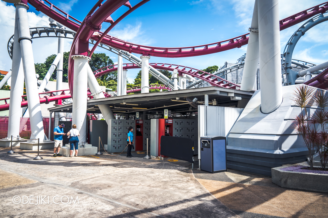 Universal Studios Singapore Reopening Safe Management Measures Queues for lockers 2