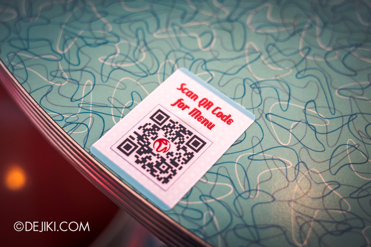 Universal Studios Singapore Reopening Safe Management Measures Restaurant QR code