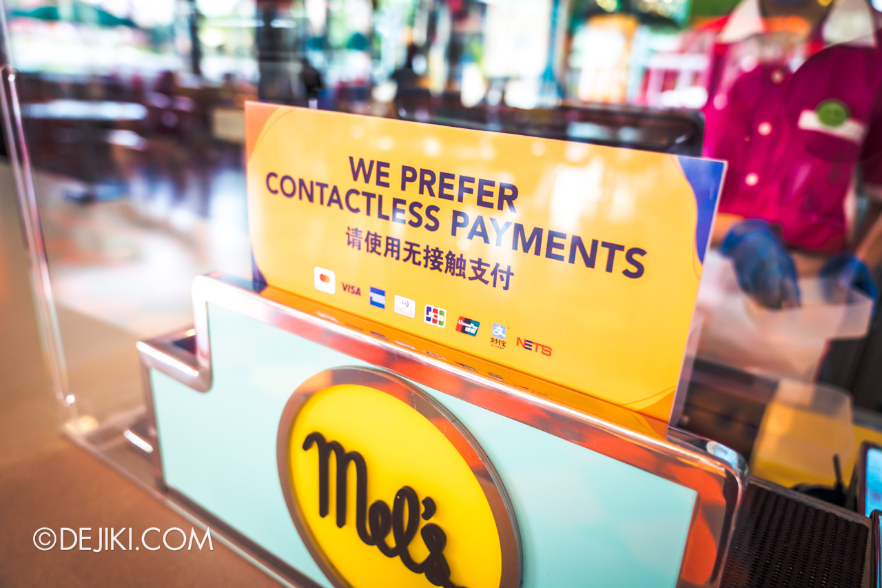 Universal Studios Singapore Reopening Safe Management Measures Restaurant contactless payment