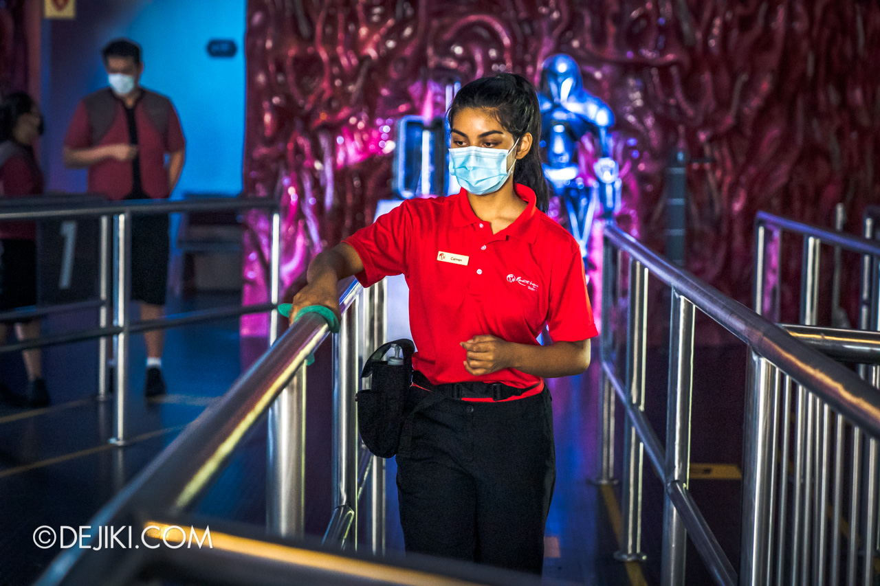 Universal Studios Singapore Reopening Safe Management Measures disinfection at Battlestar Galactica