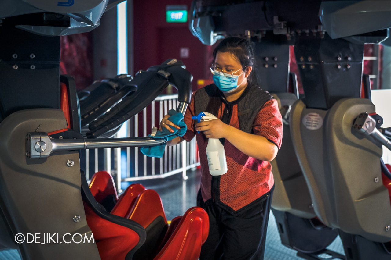 Universal Studios Singapore Reopening Safe Management Measures ride disinfection at Battlestar Galactica