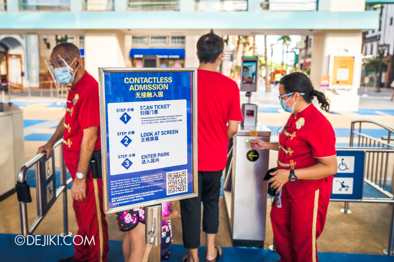 Universal Studios Singapore Park Update Sept 2020 Contactless Admission with Face Recognition