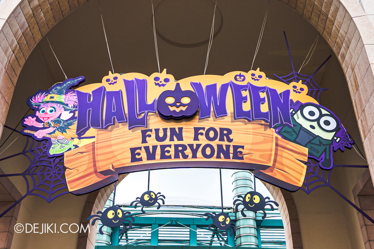 Universal Studios Singapore Park Update Sept 2020 Halloween Fun For Everyone Park Entrance sign 2