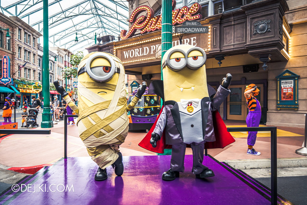 Universal Studios Singapore Park Update Sept 2020 Halloween Fun for Everyone Minion Monsters Tricky Treats Mummy Stuart and Dracula Kevin