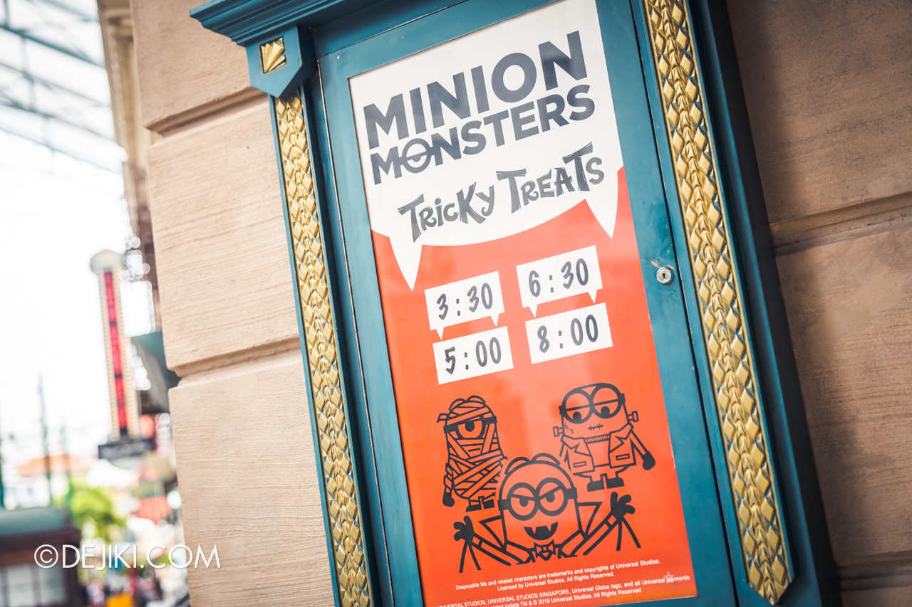 Universal Studios Singapore Park Update Sept 2020 Halloween Fun for Everyone Minion Monsters Tricky Treats street showtimes