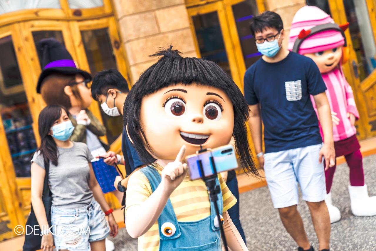Universal Studios Singapore Park Update Sept 2020 Meet and Greet experiences Despicable Me Agnes