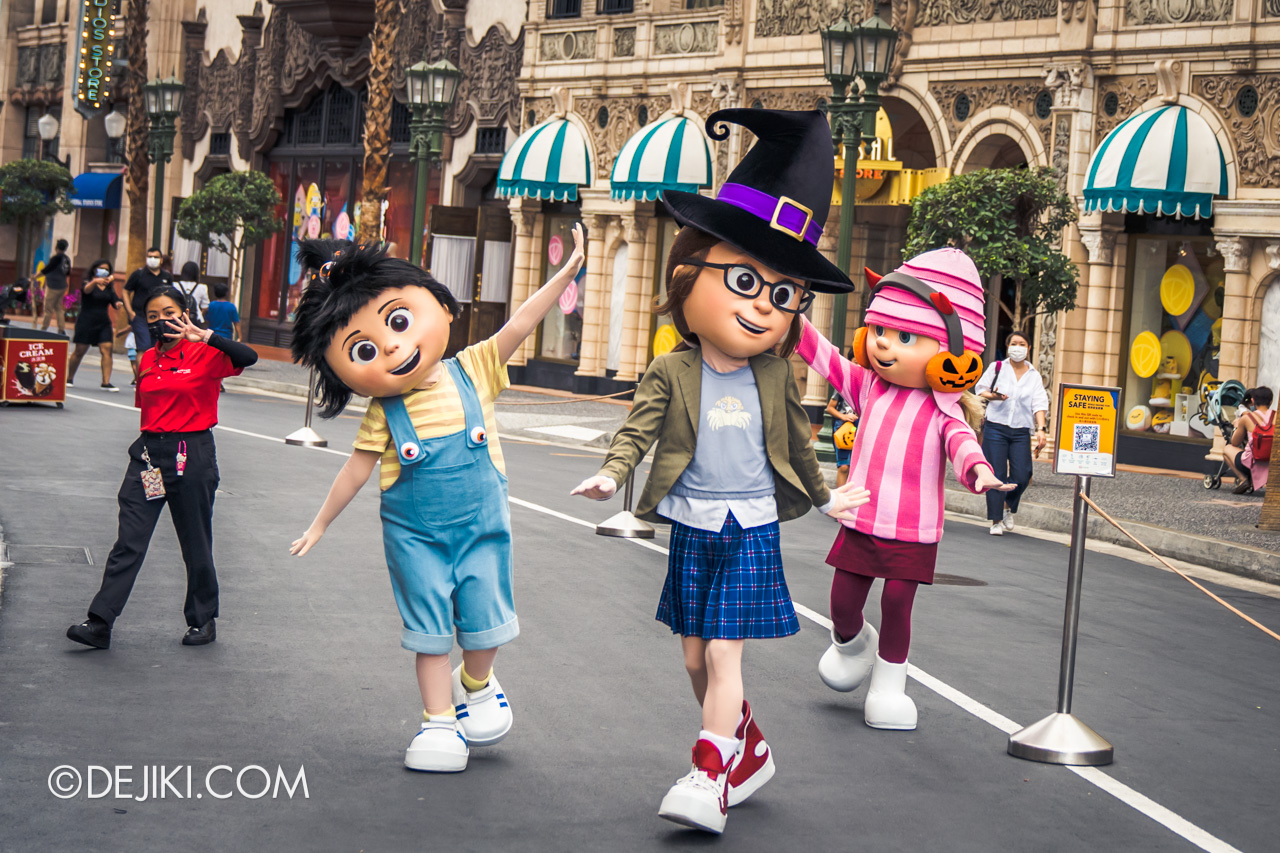 Universal Studios Singapore Park Update Sept 2020 Meet and Greet experiences Despicable Me girls Edith Margo Agnes