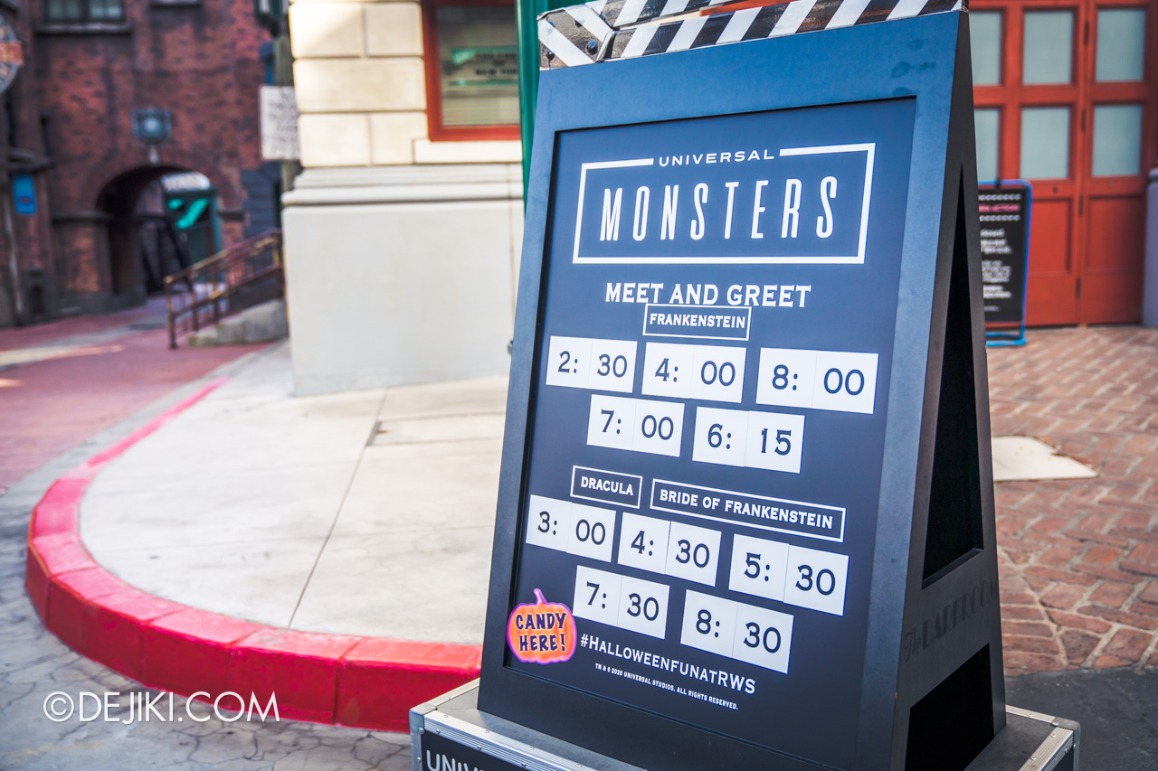 Universal Studios Singapore Park Update Sept 2020 Meet and Greet experiences Universal Monsters