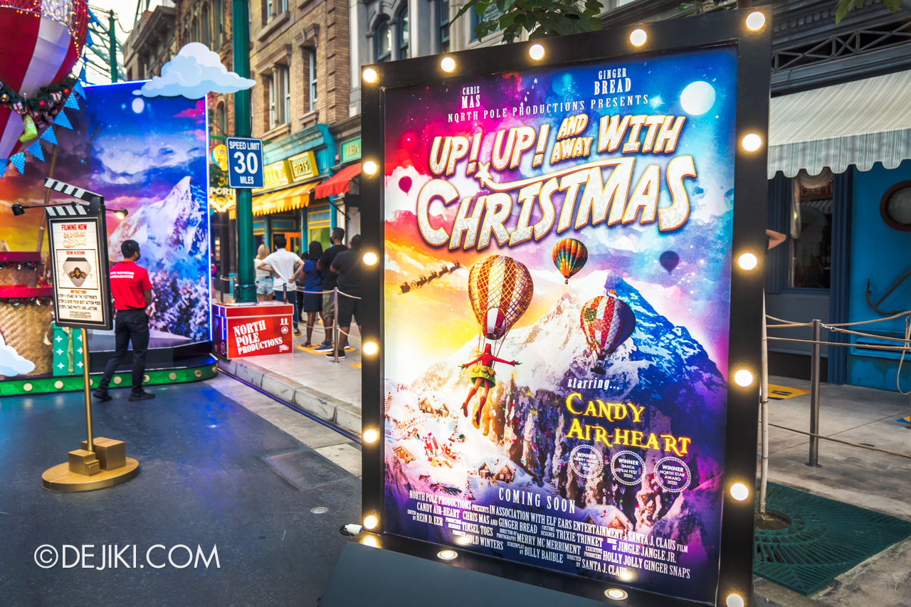 Universal Studios Singapore Park Update Dec 2020 Universal Christmas Meet and Greet Lights Camera Christmas Up Up with Christmas