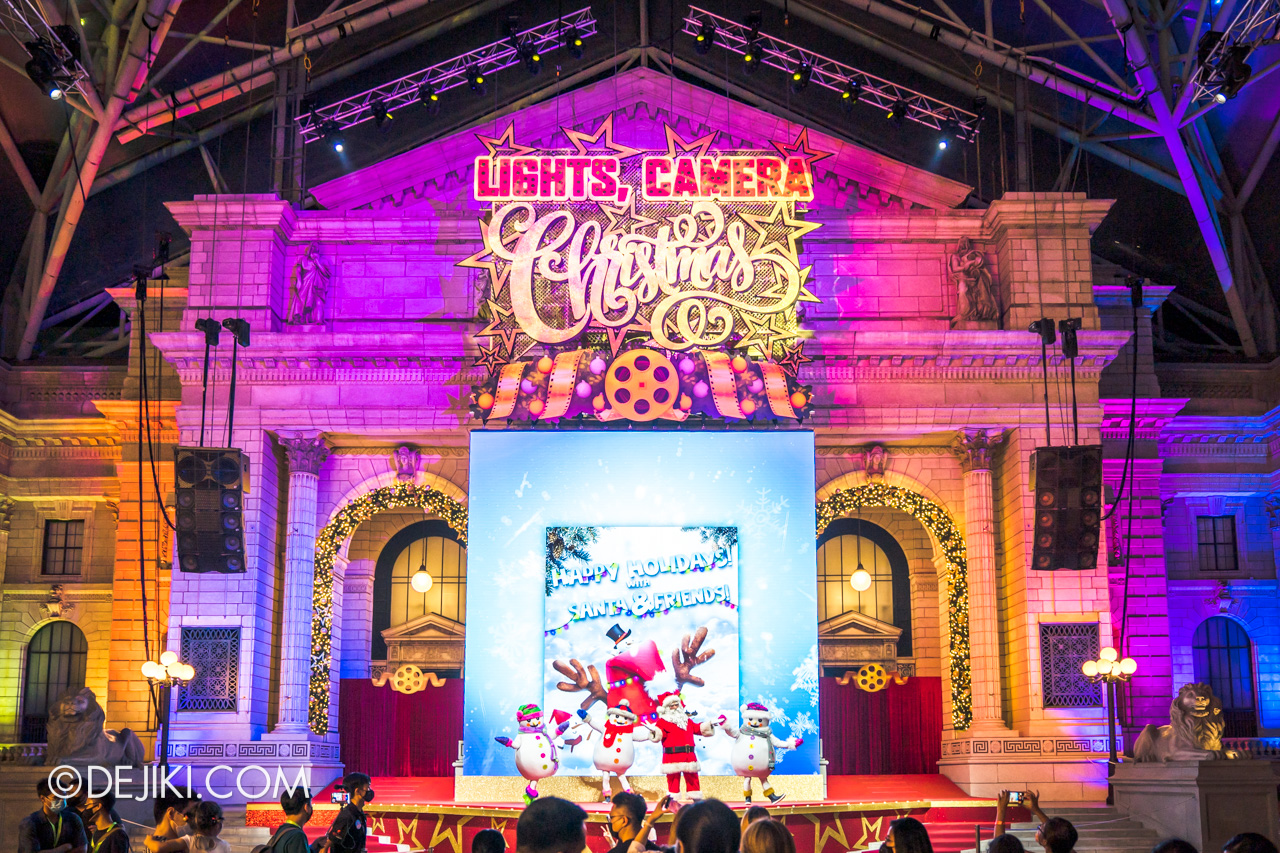 Universal Studios Singapore Park Update Dec 2020 Universal Christmas Meet and Greet New York Library Stage
