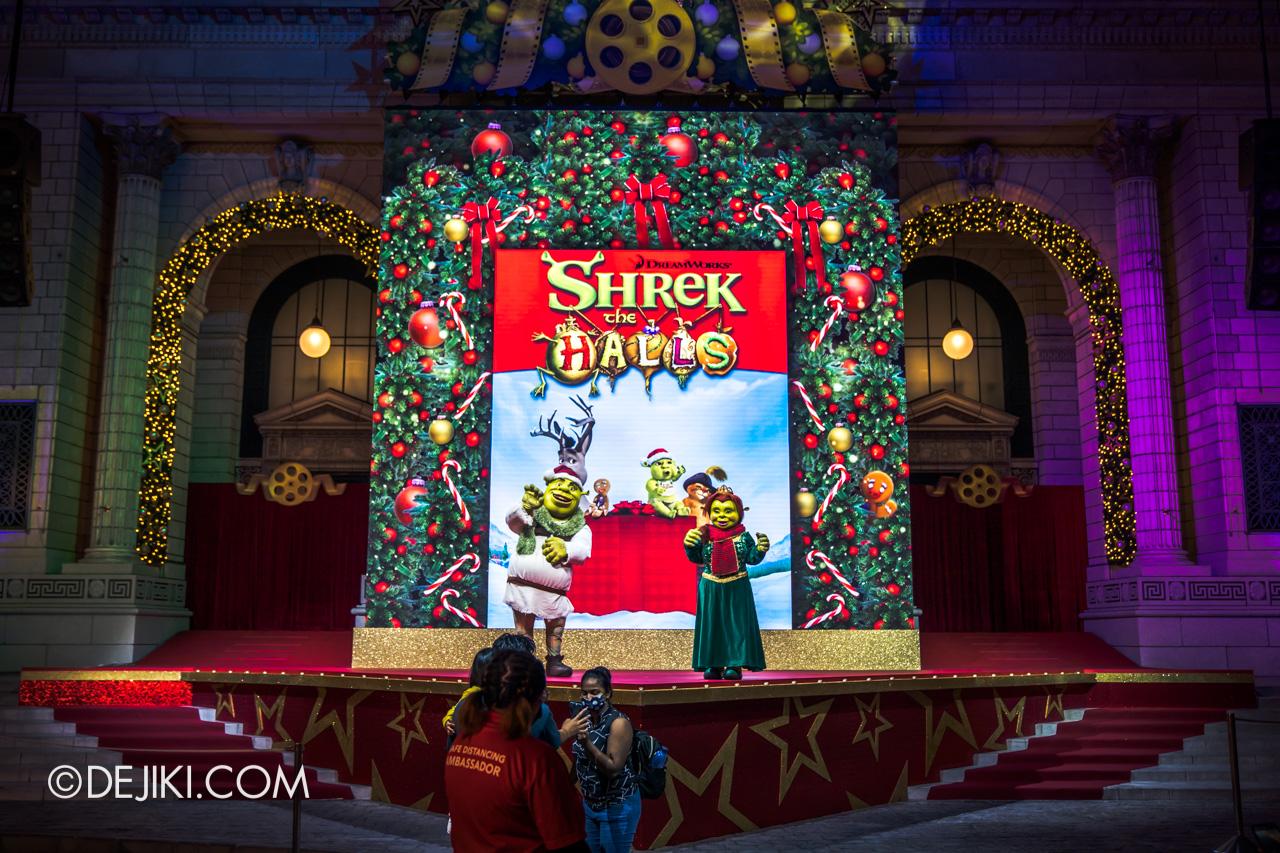 Universal Studios Singapore Park Update Dec 2020 Universal Christmas Meet and Greet Shrek the Halls