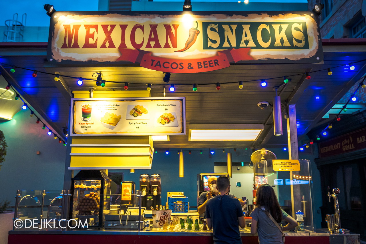 Universal Studios Singapore Park Update Dec 2020 Walkabout Mexican Snacks