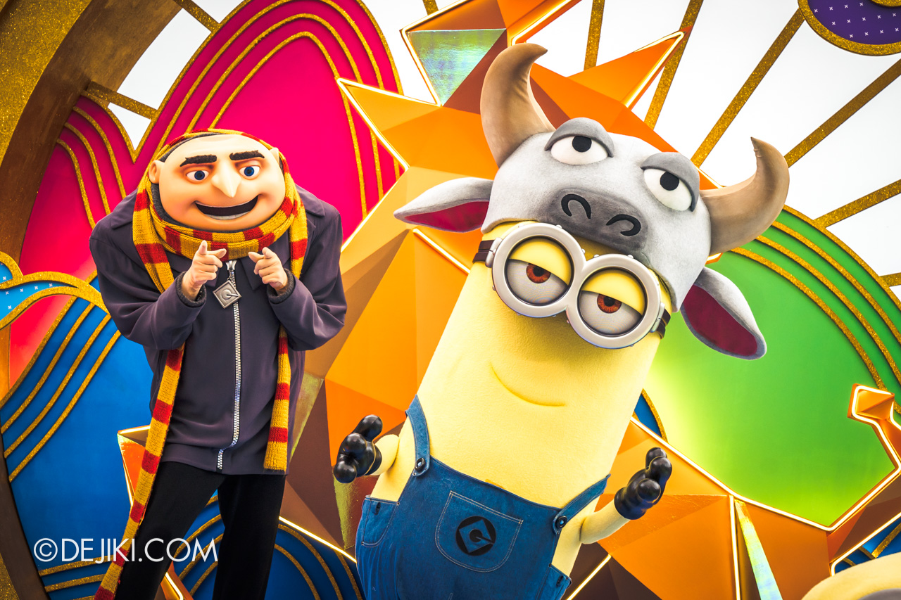 Universal Studios Singapore Park Update Jan 2021 Gru and Minion with Ox Hat