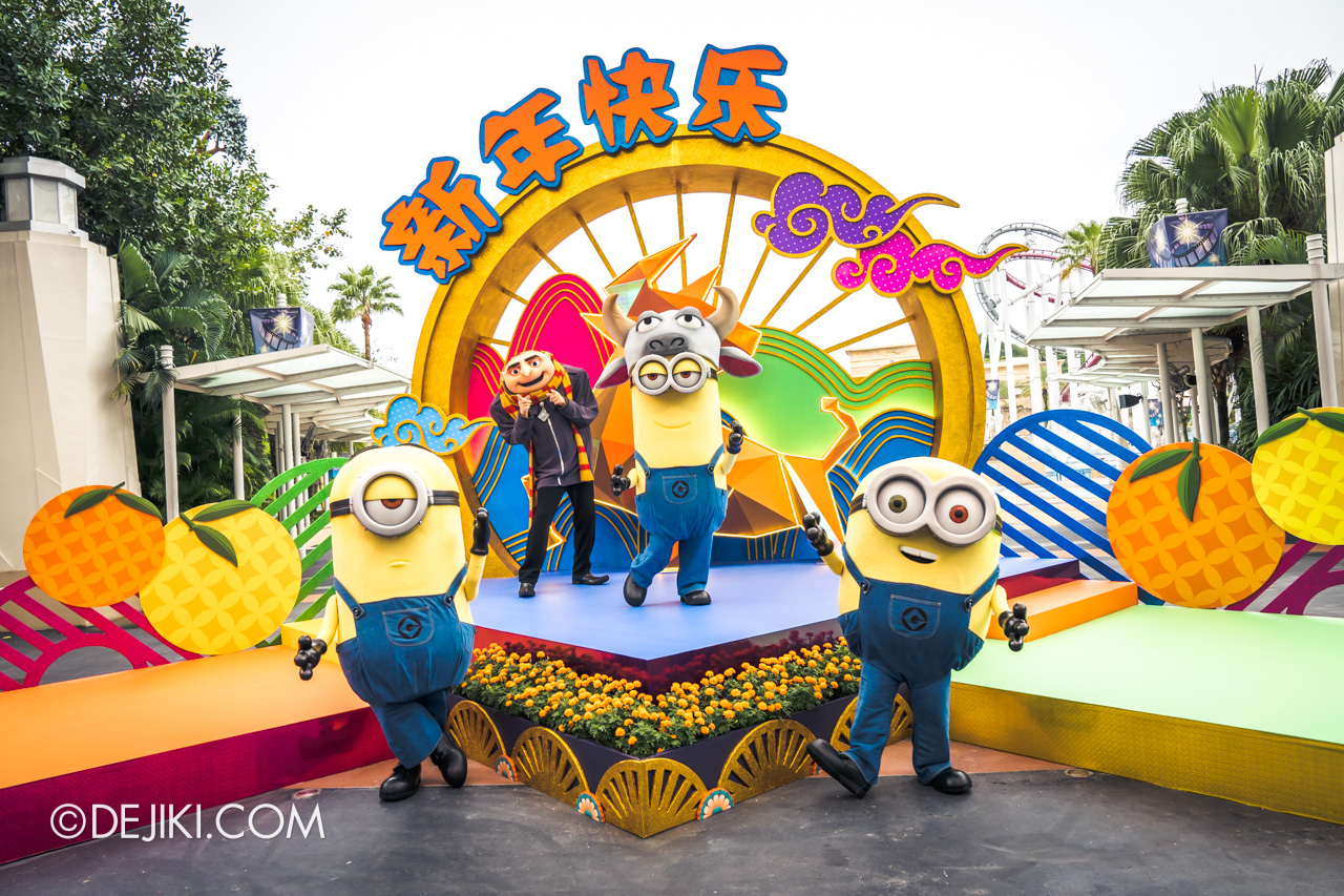 Universal Studios Singapore Park Update Jan 2021 Gru and Minions at Hollywood stage