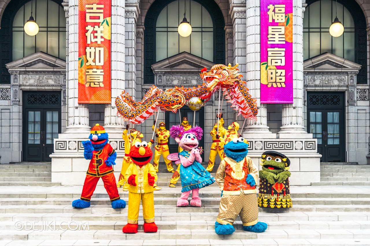 Universal Studios Singapore Park Update Jan 2021 Majestic Dragon with Sesame Street Friends