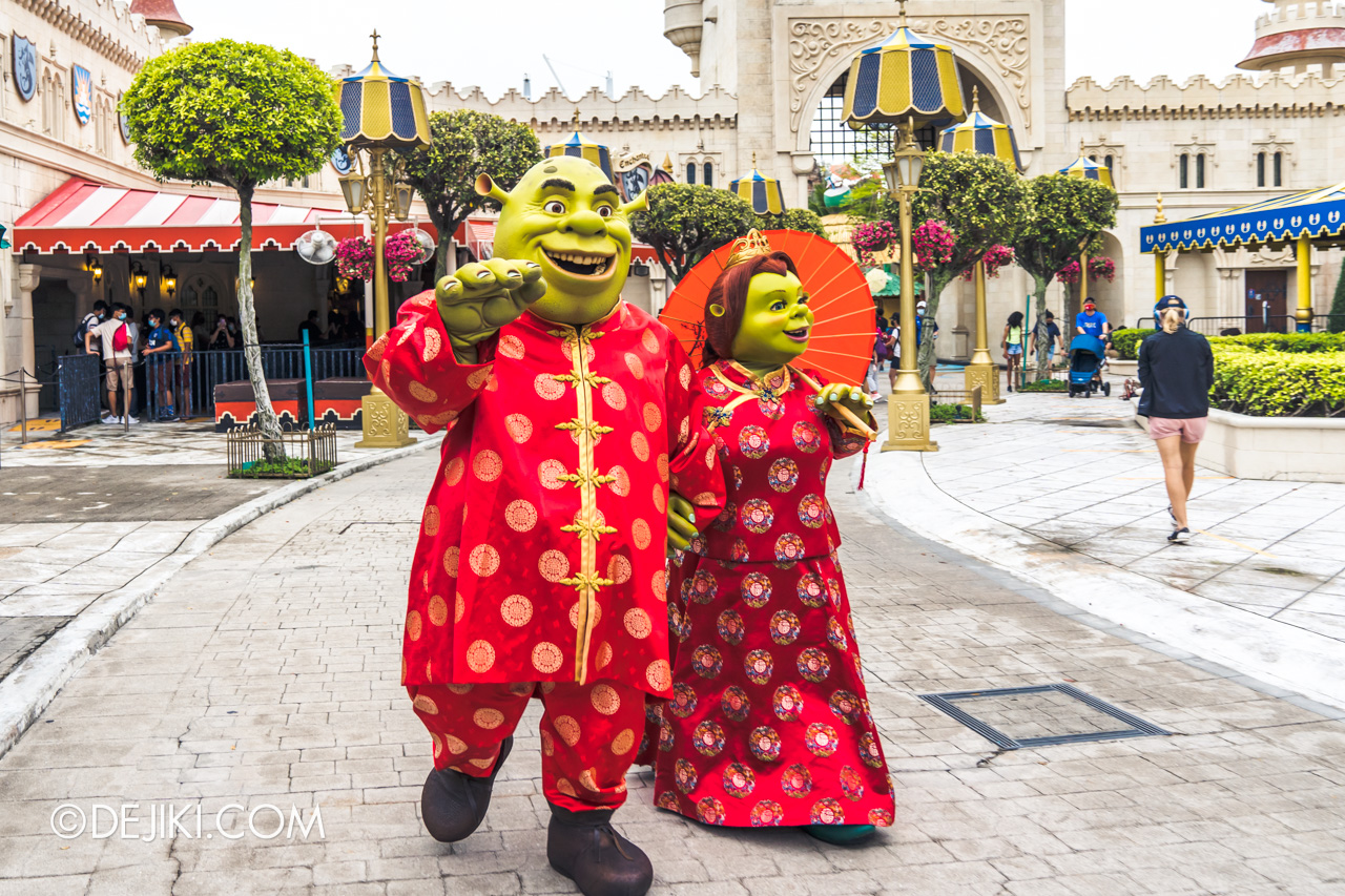 Universal Studios Singapore Park Update Jan 2021 Shrek and Fiona CNY Outfits