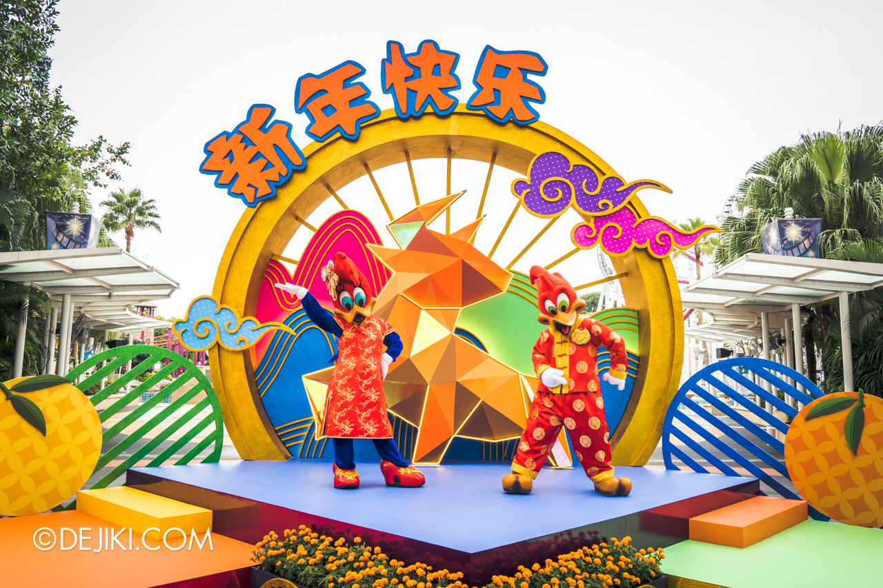 Universal Studios Singapore Park Update Jan 2021 Winnie Woodpecker and Woody Woodpecker Chinese New Year outfits