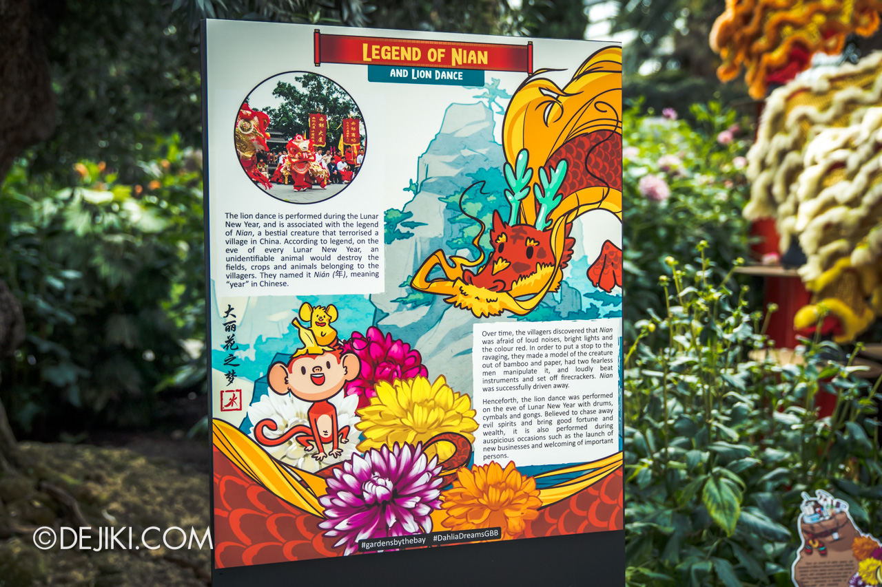 Gardens by the Bay 2021 Dahlia Dreams 6 Nian Lion Dance display story