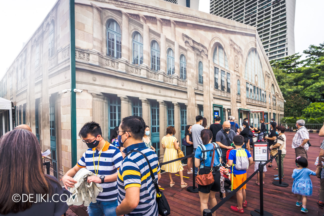 Orient Express Exhibition Singapore 1 Outdoor queue Entrance