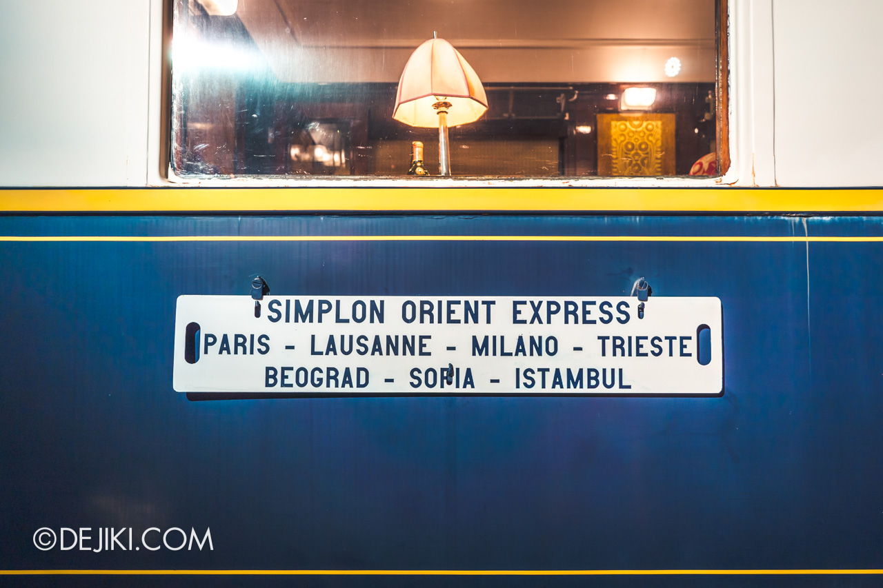 Orient Express Exhibition Singapore 11 train route card closeup
