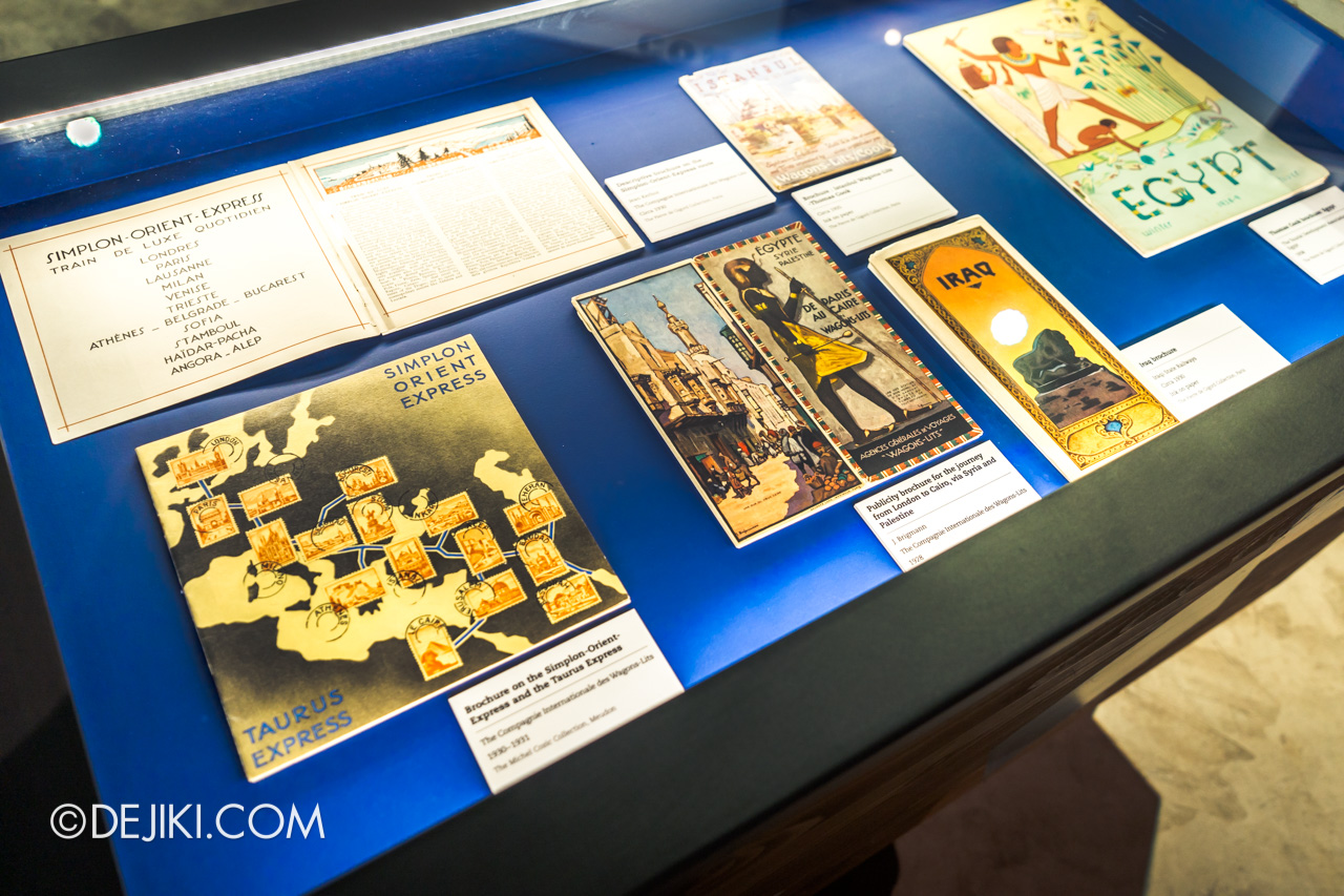 Orient Express Exhibition Singapore 12 travel brochures guides