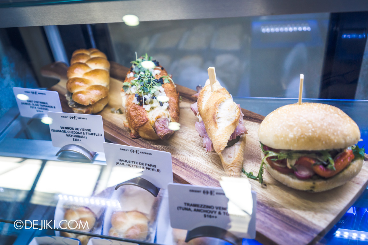 Orient Express Exhibition Singapore 14 Orient Express Cafe by Yannick Alleno sandwiches
