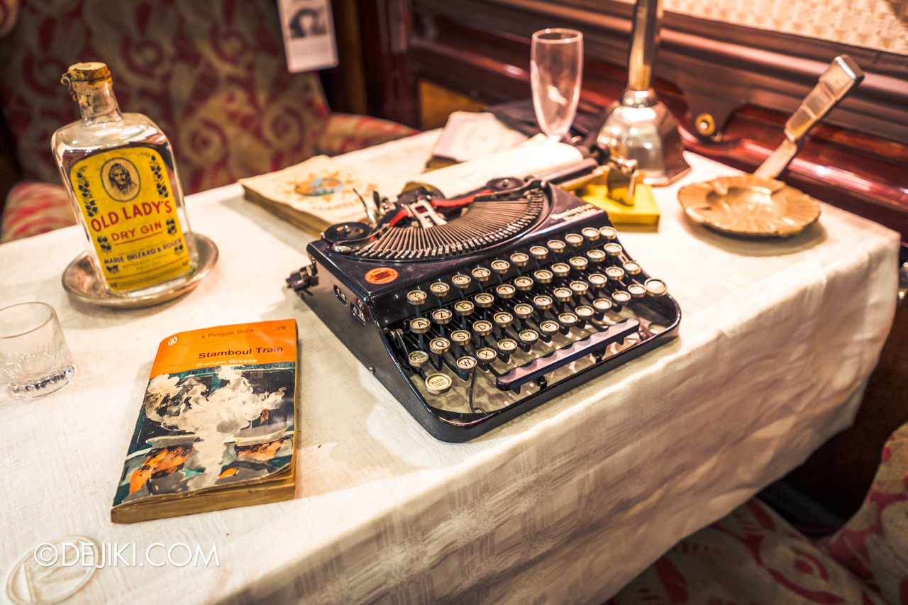 Orient Express Exhibition Singapore 2 First Class Cabin 5 typewriter