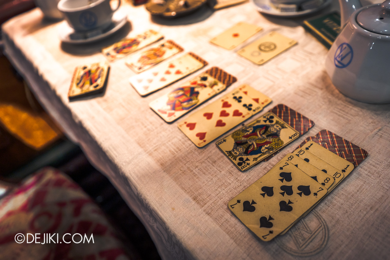 Orient Express Exhibition Singapore 2 First Class Cabin 7 poker cards