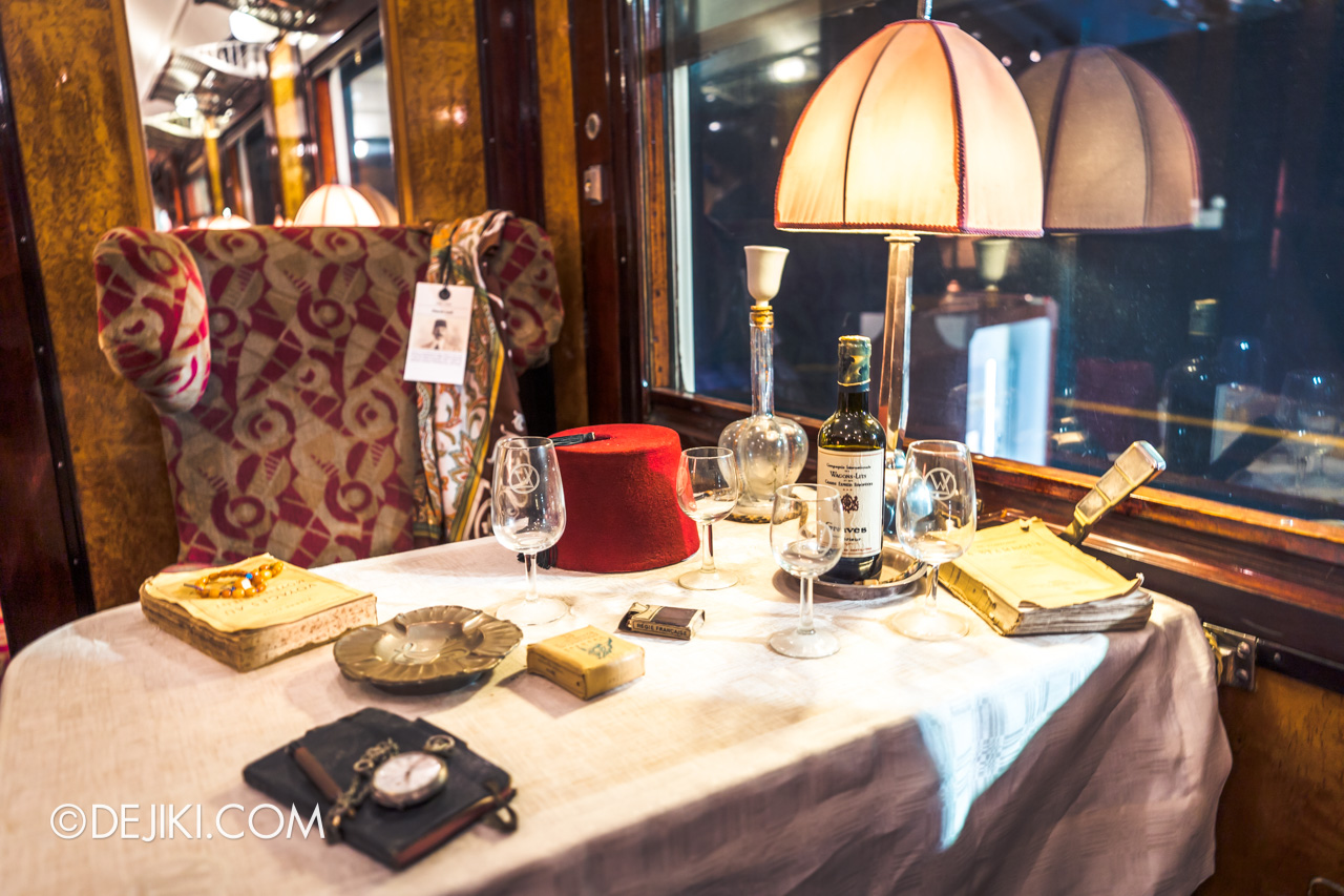 Orient Express Exhibition Singapore 2 First Class Cabin 8 novel and fez