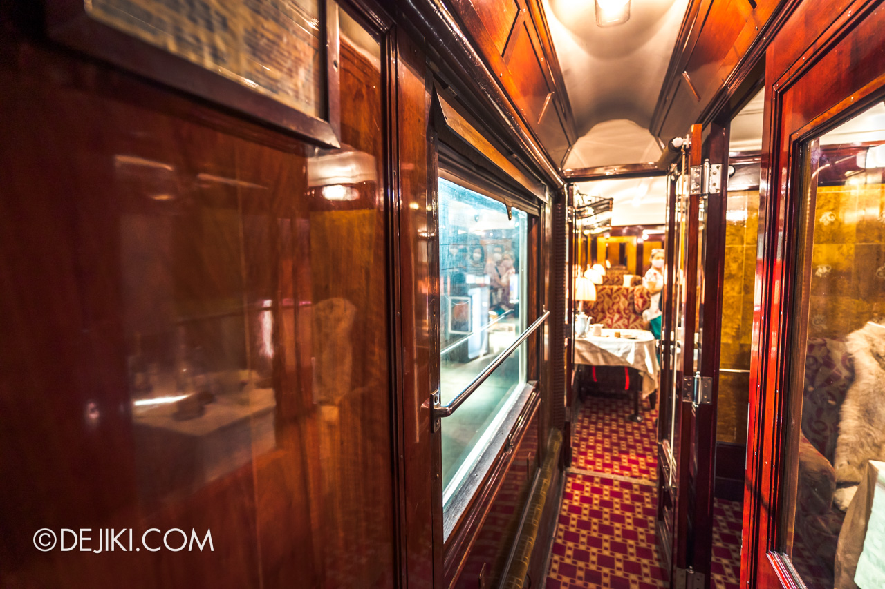 Orient Express Exhibition Singapore 2 First Class Carriage walkway