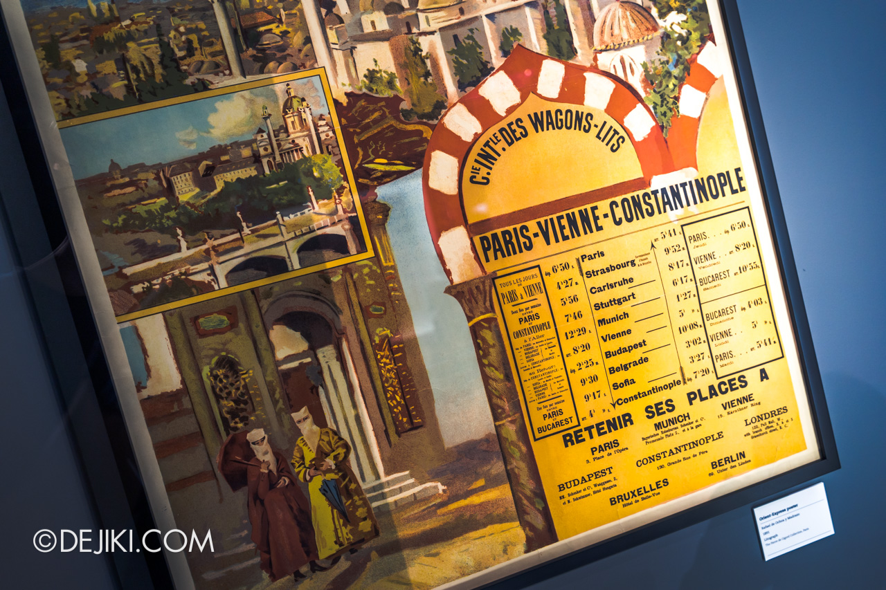Orient Express Exhibition Singapore 7 train exhibits route detail