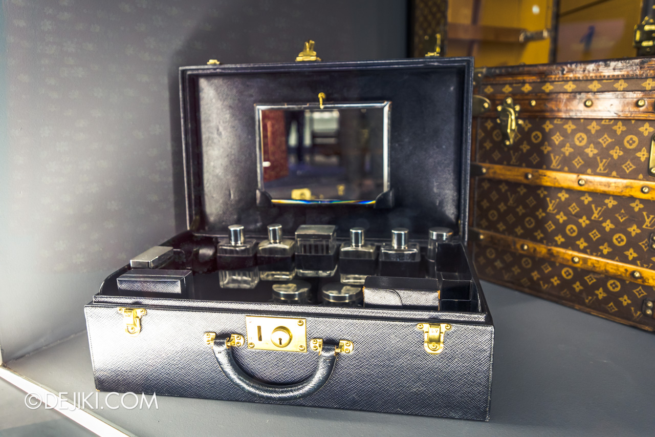 Orient Express Exhibition Singapore 8 train exhibits louis vuitton briefcase trunk