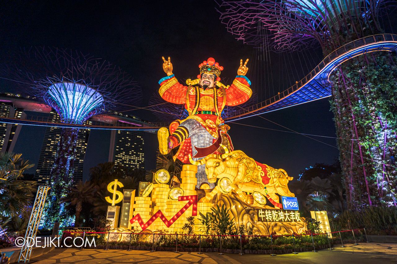 River Hongbao 2021 Lantern Display God of Fortune Light up